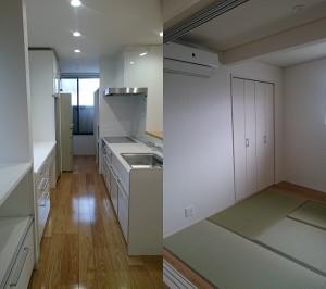 金沢市二口町_リノベーション_対面キッチン