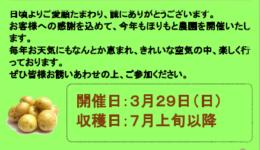 第5回 ほりもと農園 ジャガイモづくり 3月29日(日)参加者募集