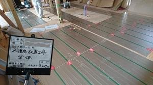 「小屋裏空間・ZEH・FPの家」金沢市高柳町_高気密高断熱_床暖房設置