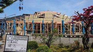 「小屋裏空間・ZEH・FPの家」金沢市高柳町_高気密高断熱_建て方工事