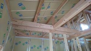 「小屋裏空間・ZEH・FPの家」金沢市高柳町_高気密高断熱_断熱材施工完了